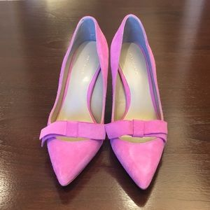 Ann Taylor size 6 pink pumps. Never worn outside!